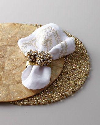 home decor & kitchen interior design - ShopStyle: Kim Seybert Shimmery Table Linens