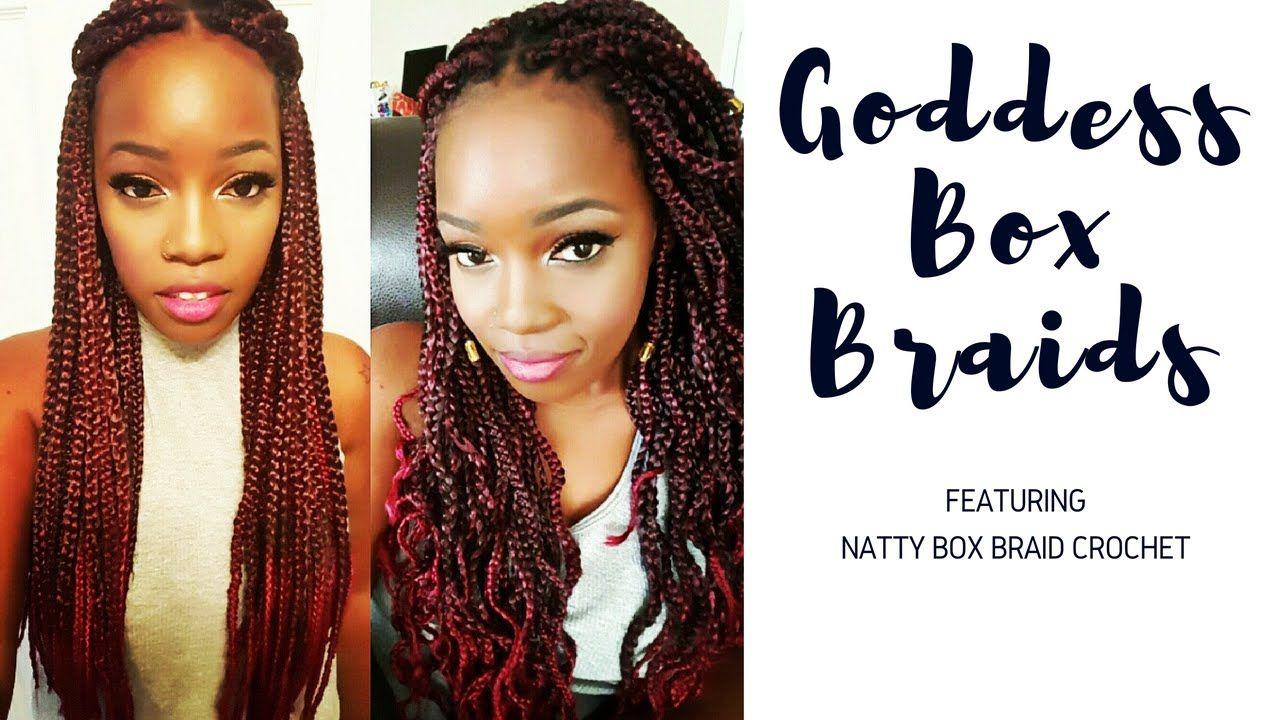 Crochet Braids Natty Goddess Box Braids 7 Packs Braids