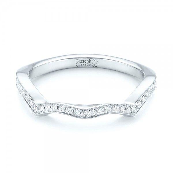 custom contoured diamond wedding band joseph jewelry bellevue seattle online design