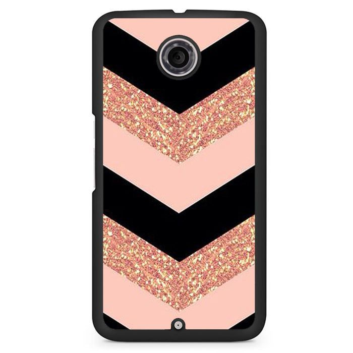Pink Glitter Chevron Phonecase Cover Case For Google Nexus 4 Nexus 5 Nexus 6