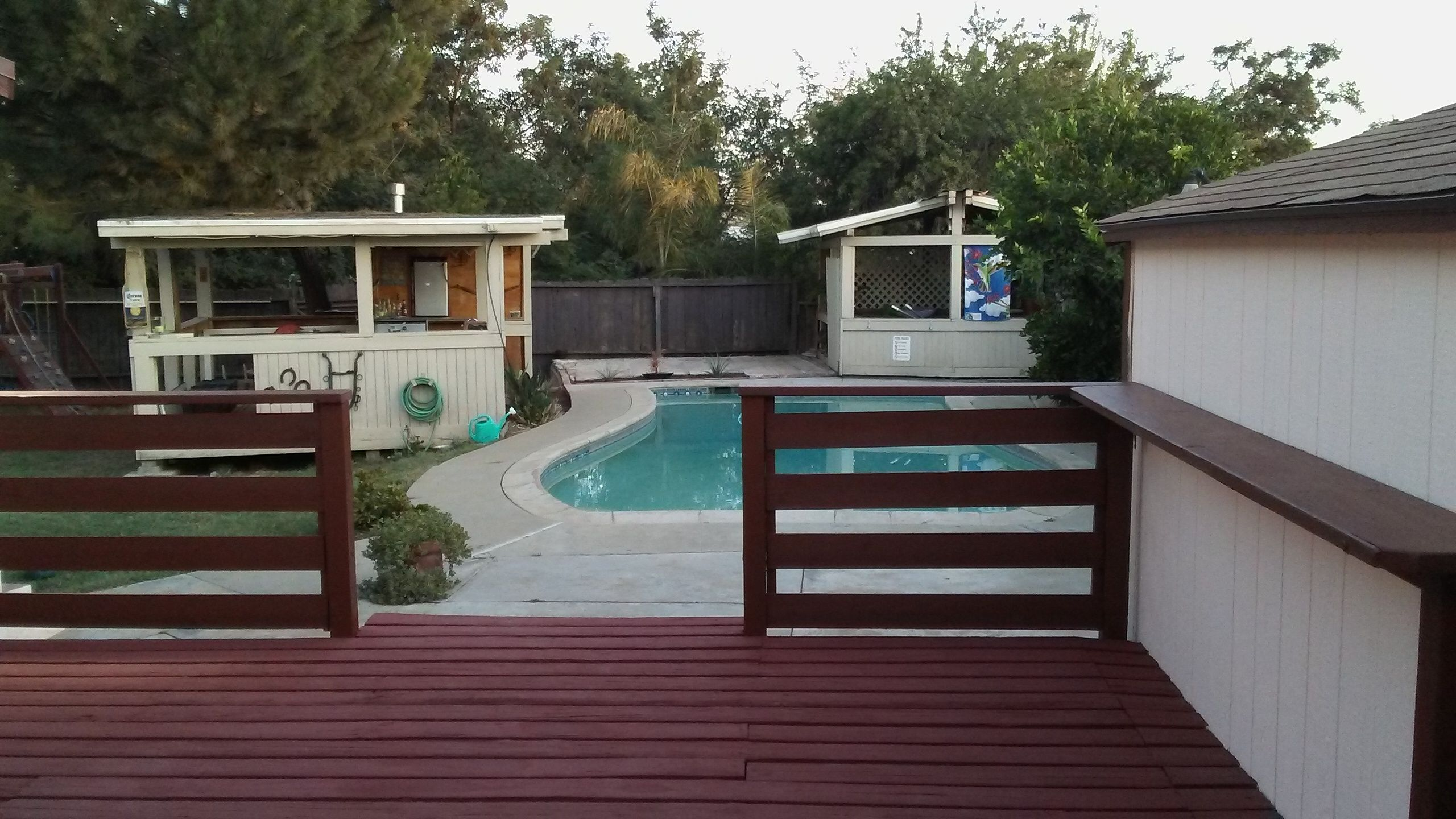 Deck After Renovation With Sherwin Williams Superdeck Solid Stain In Sequoia Deck Stain Colors Staining Deck House Colors