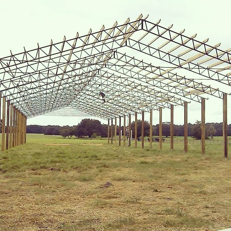Install and delivery of materials such as metal roofing, pressure treated lumber, steel truss, etc. used for Pole Barns. Covering the entire Southeast including Georgia, Alabama, and Florida. In-House Install all over the South East. Product can be used for horse barns, carports, rodeo covers, pavilions, hay shelter, sheds, etc.