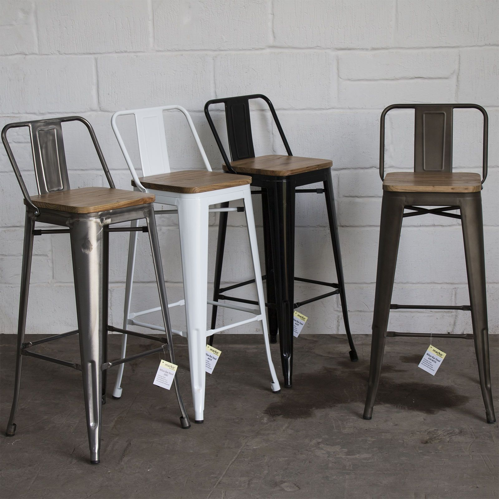 and foot stool metal industrial backs back black bar with furniture rest stools