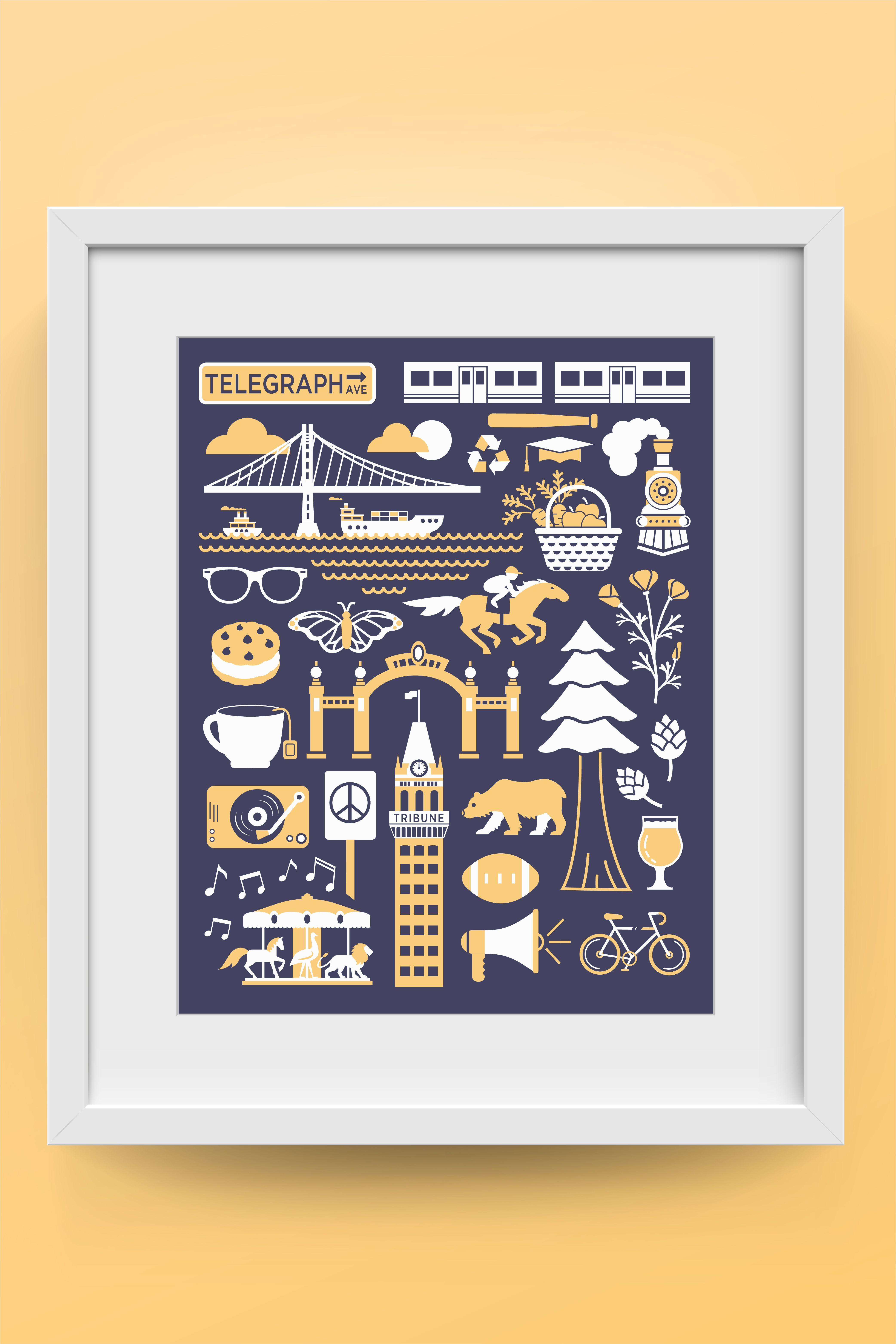 Berkeley Print |UC Berkeley Gifts | Cal Bears Gift | Berkeley Wall Art | Gift |Berkeley Poster
