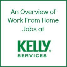 Kelly services work from home jobs