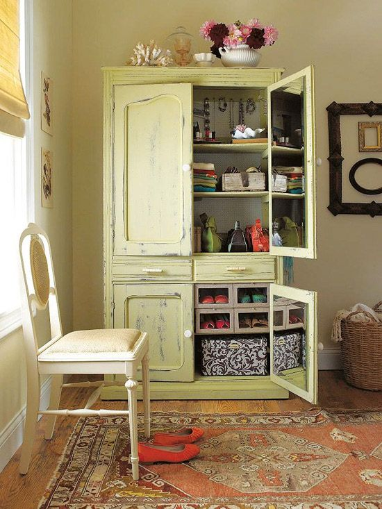 Revamped Armoires for Small-Space Storage with a New Look ...