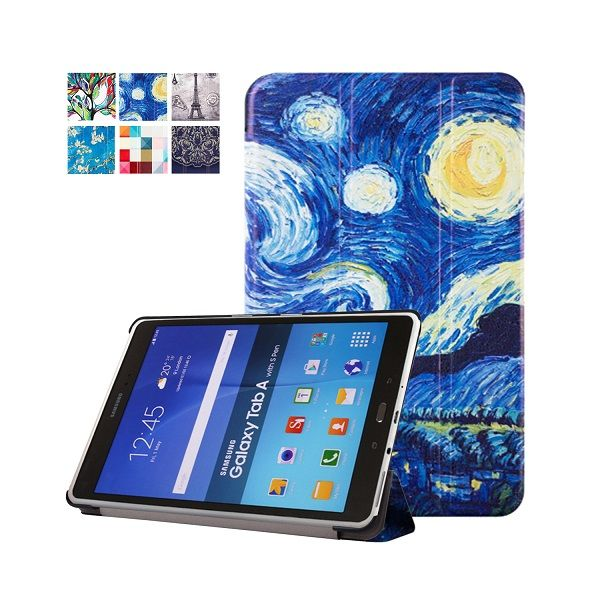 Van Gogh Design Painting Folio Stand Cover Case For Samsung Galaxy Tab A 9 7 T555 T550 T550 P550 9 7 Tabl Samsung Galaxy Tablet Tablet Gift Samsung Galaxy Tab