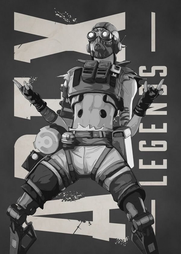 "Apex Legends B&W Characters Octane #Displate explore Pinterest""> #Displate artwork by artist ""Gemini-Phoenix"". Part… 