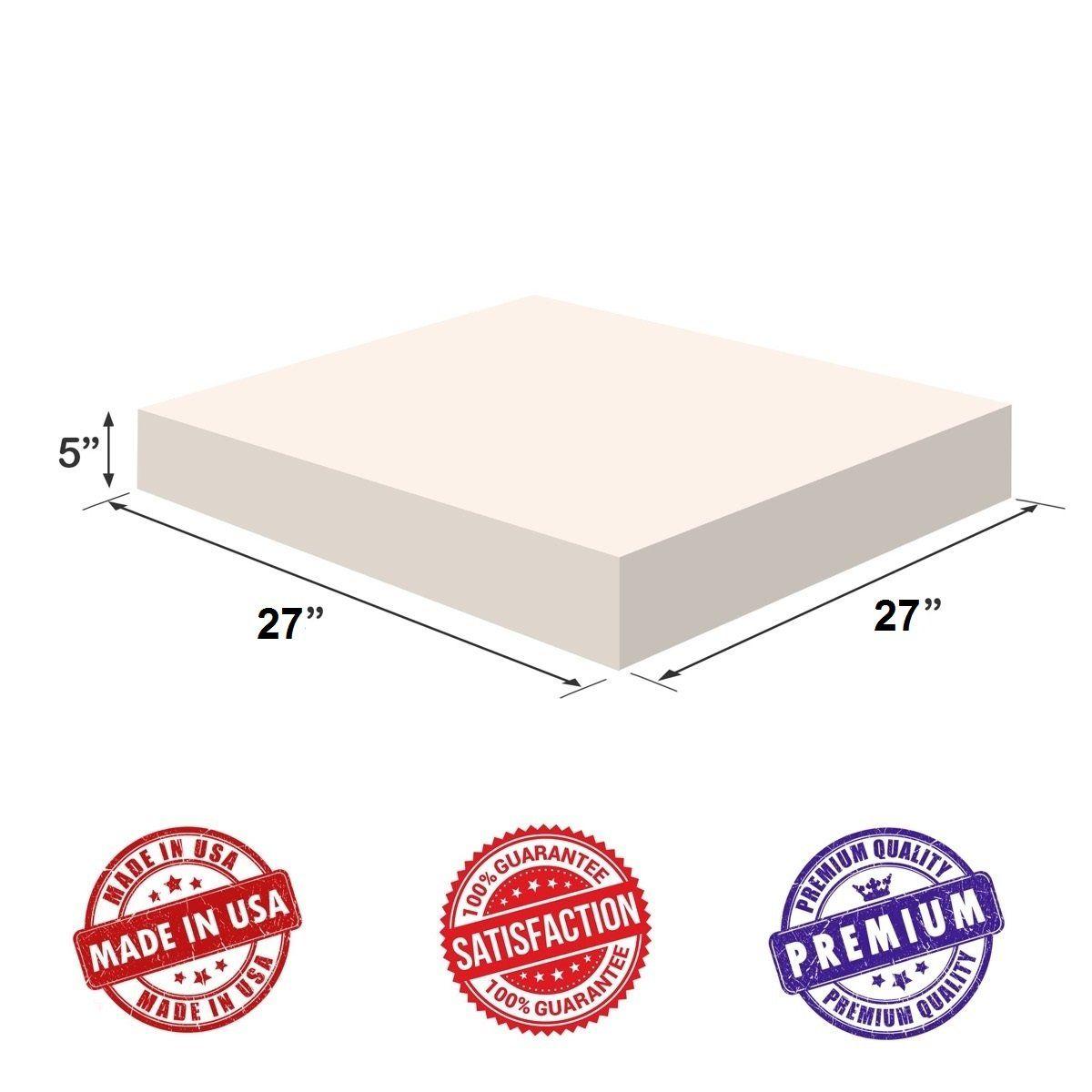 Upholstery Foam Square Cushion Sheet 5x27x27 High Density Soft Premium Luxury Qualitygood For Chair Cushionssofa Cushions Wheelchai Upholstery Foam Cushions On Sofa Foam Sheets