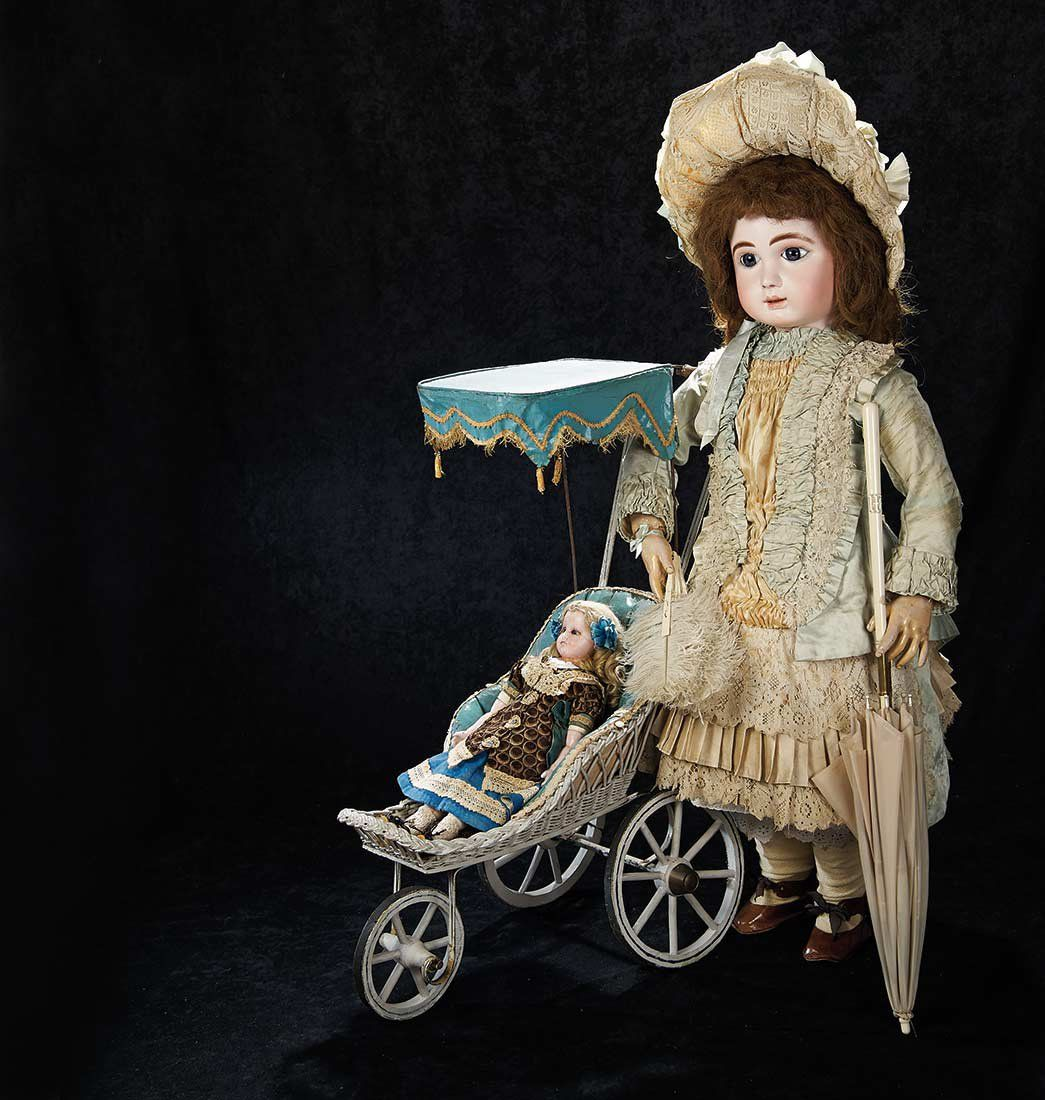 Very Beautiful French Bisque Bebe by Jules Steiner in Rare Exhibition Size 5500/7500 .'