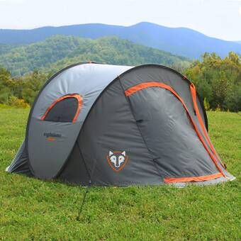 3714209d3e7 Outsunny Deluxe 4-in-1 Compact Folding Dome Shelter Tent with Sleeping Bag  Air Mattress Pillow & Reviews | Wayfair