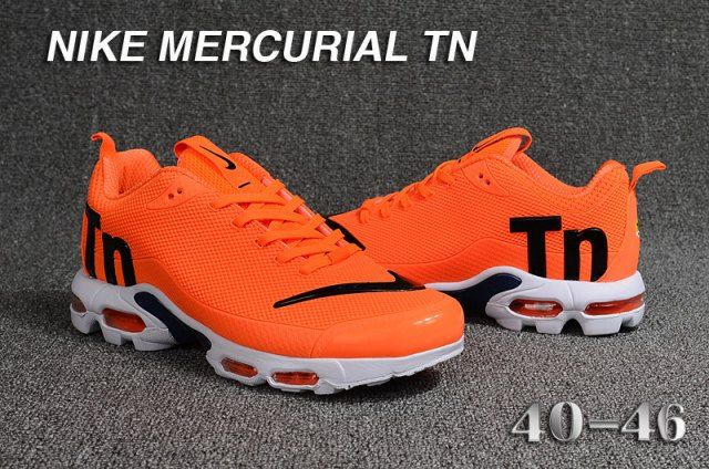 9519d3d79be Fashion Men s Nike Mercurial TN Cushioning Running Sports Shoes Orange    Black