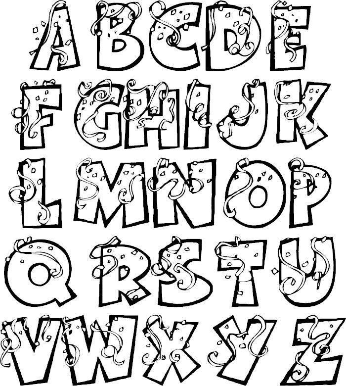 Alphabet Coloring Pages Lettering Alphabet Fonts Lettering Alphabet Graffiti Lettering Fonts