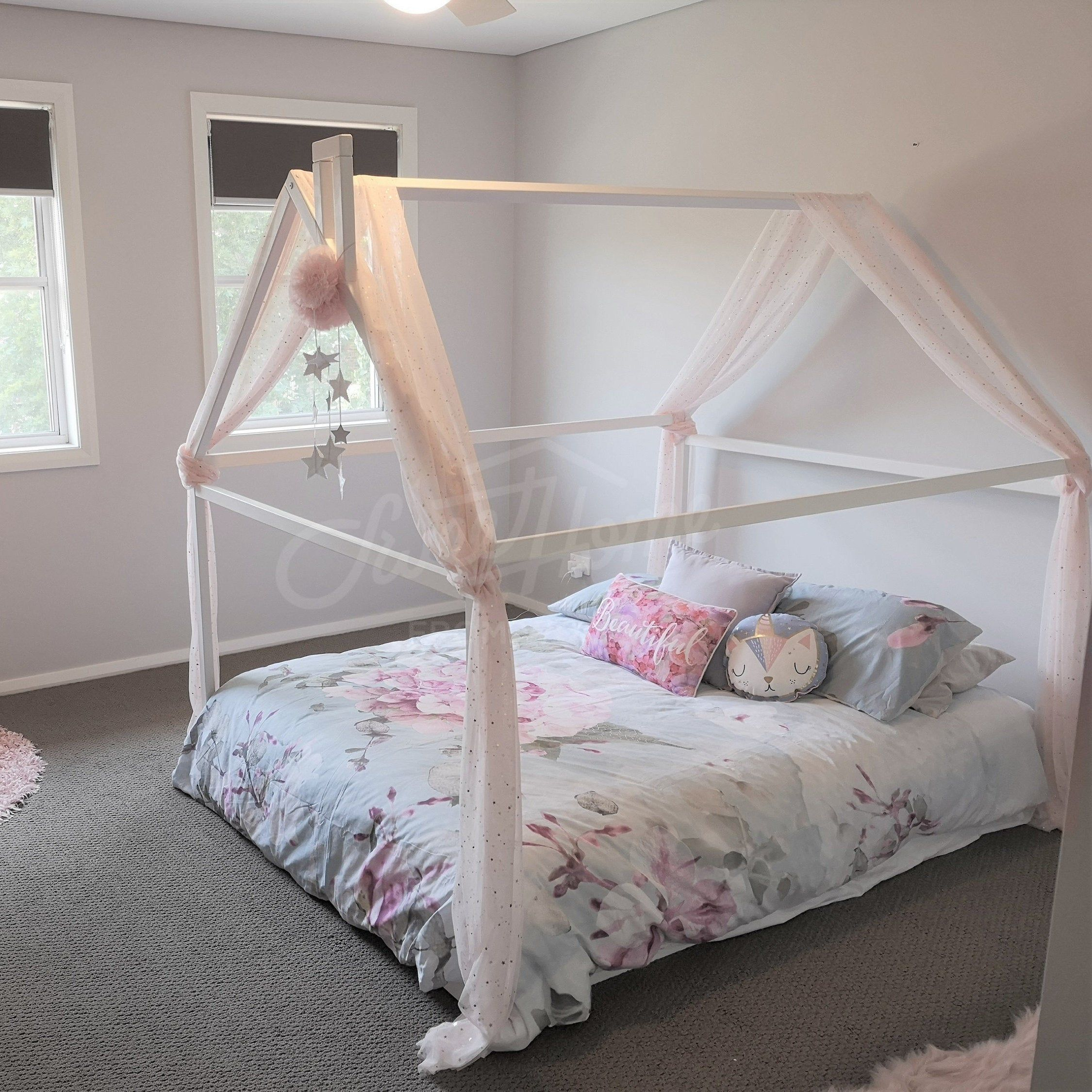 Wood Bed Full Double Toddler Bed Frame Tent Bed Wooden House Bed Frame Wood Nursery Bed House Baby Bed Wood Bed Kids Bed Gift Slats In 2019 New House