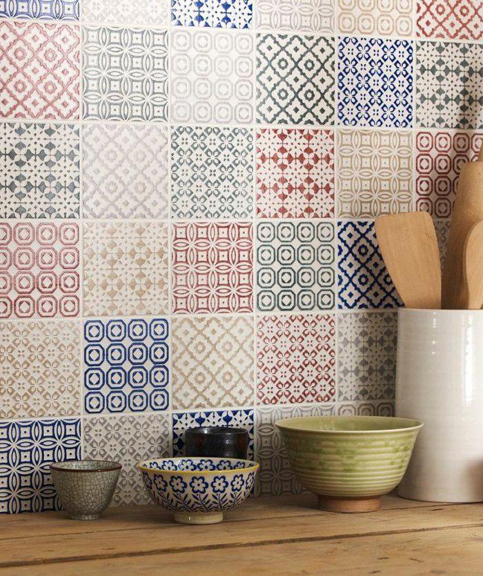 le carrelage mural en 50 variantes pour vos murs pinterest les cuisines modernes cuisine. Black Bedroom Furniture Sets. Home Design Ideas