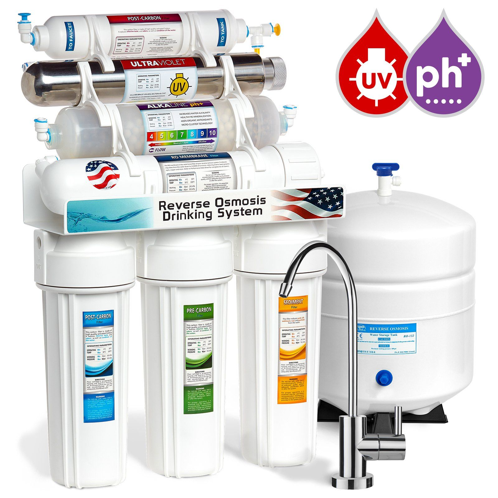Express Water Alkaline Ultraviolet Reverse Osmosis Water Filtration System A 11 Stage Ro Uv M Osmosis Water Filter Reverse Osmosis Water Water Filters System
