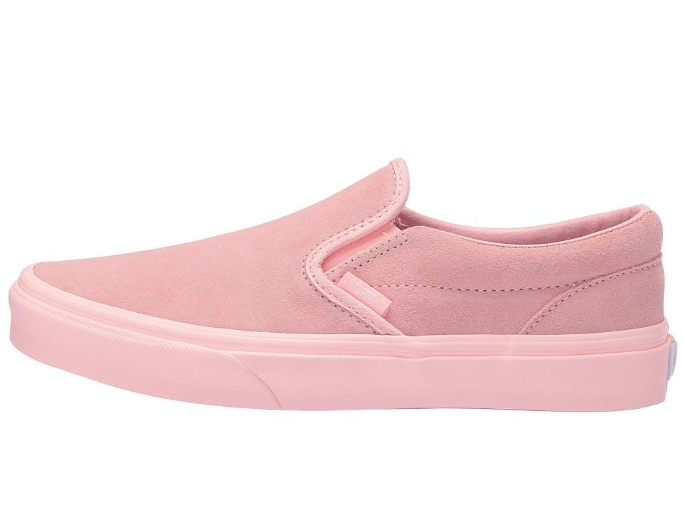 ea817068b3b9f9 Vans Kids Classic Slip-On (Little Kid Big Kid) Girl s Shoes (Suede)  Mono English Rose