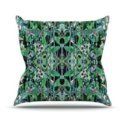 East Urban Home Grun by Danii Pollehn Outdoor Throw Pillow