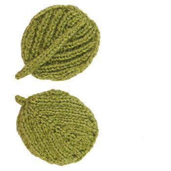 Alder Leaf free knitting pattern on ODD Knit at http://www.oddknit ...