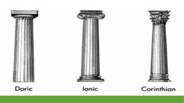 Vector Ancient Greek Architecture With Columns Everything You