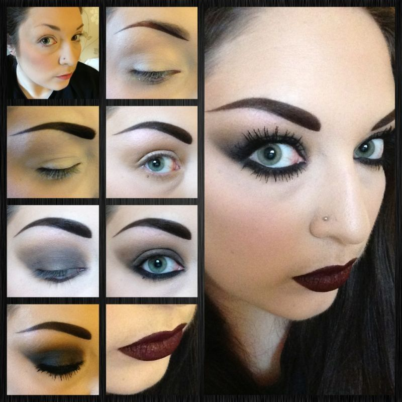 Halloween Makeup- Or A Bad Ass Concert Makeup ) Gothic Inspired Smokey Eye And Dark Lips ...