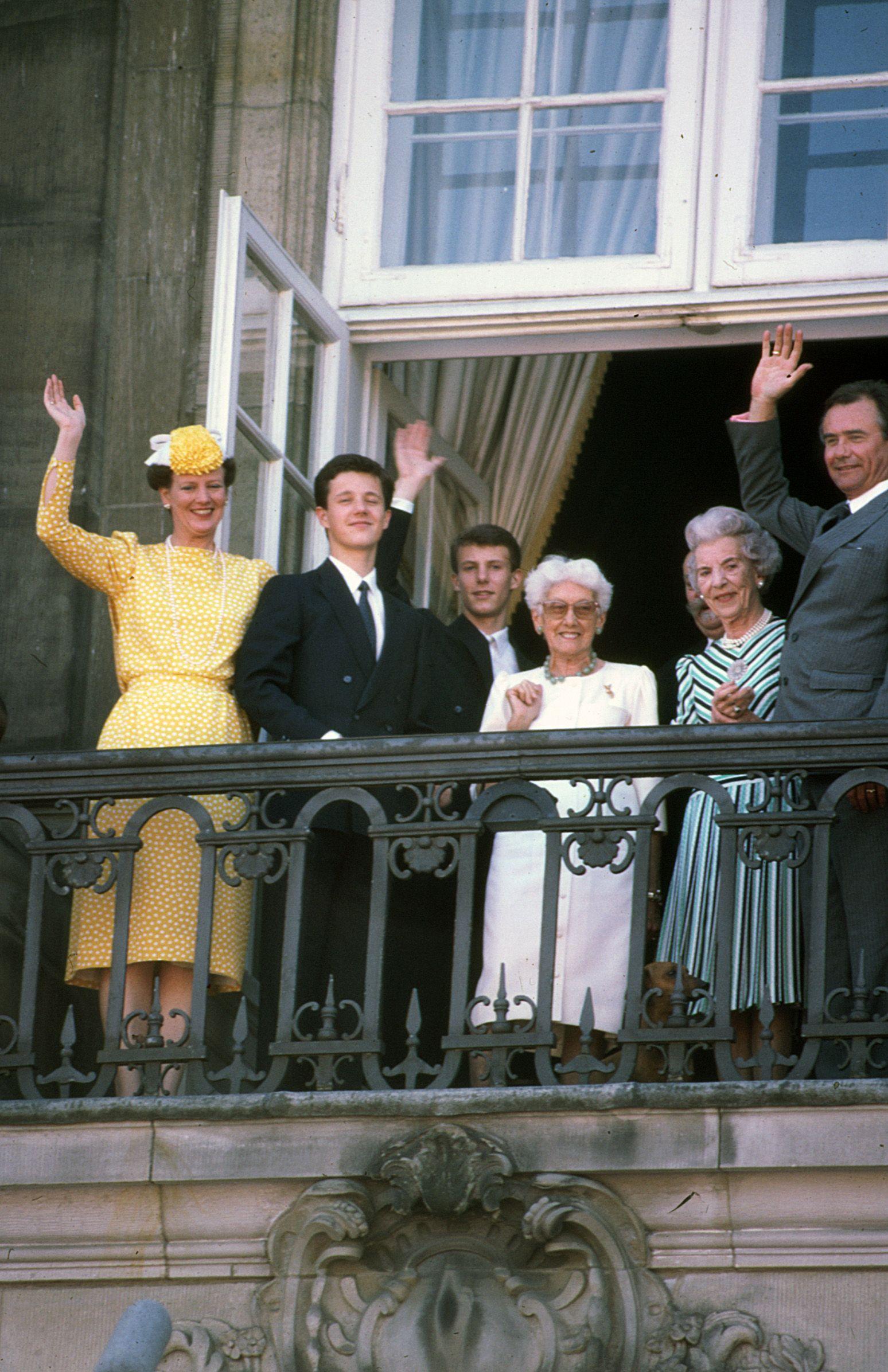 Danish Royal Family at Palace on Crown Prince