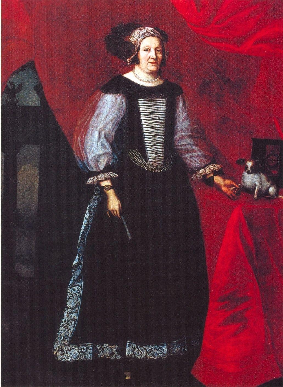 Mária Hungarian noblewoman European dress, 18th