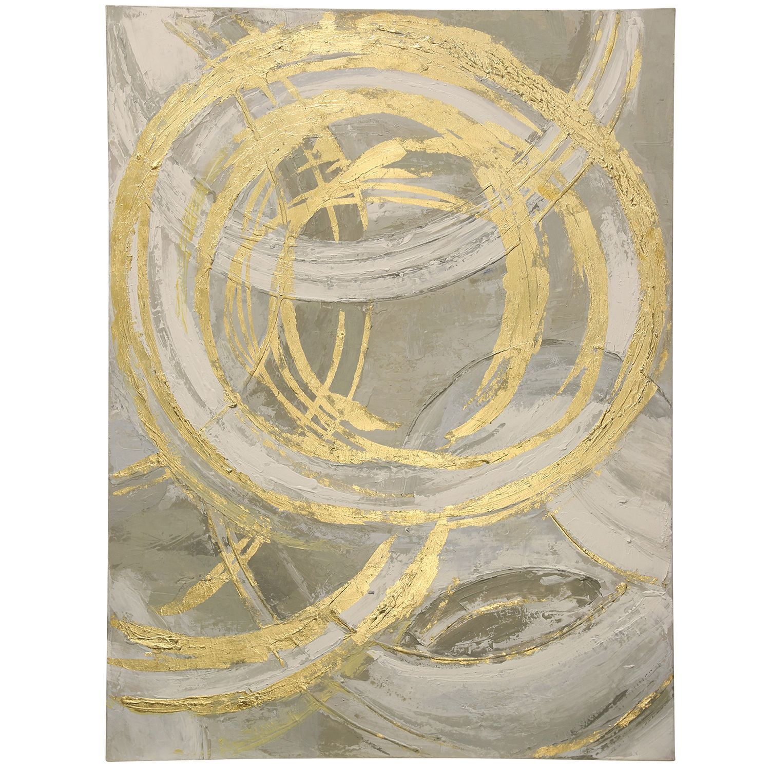Hand Painted Gold Circles On Stretched Canvas | Canvases, Gold and ...