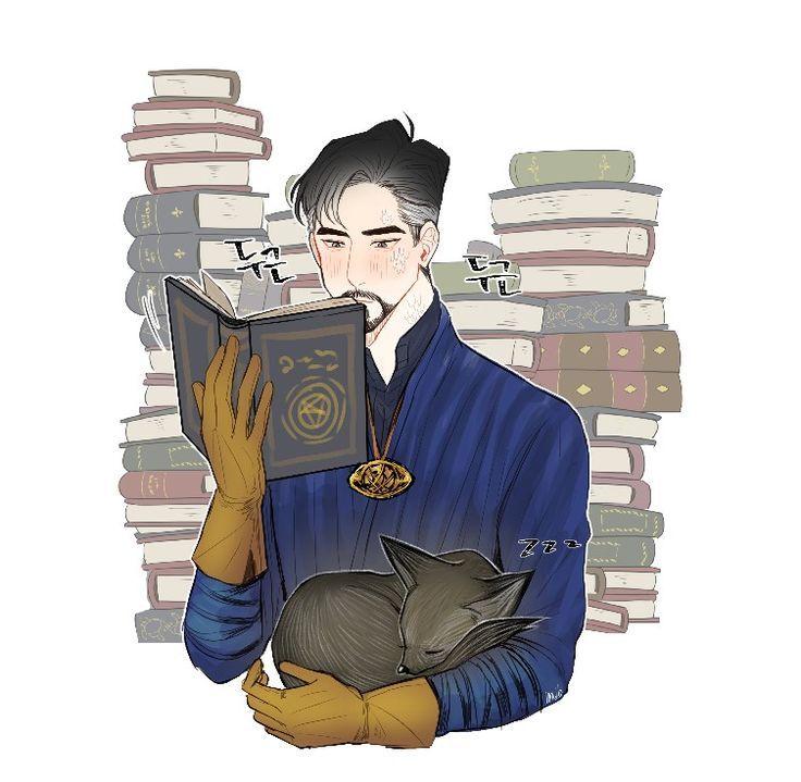 I love it when men read!! Doctor strange marvel, Doctor