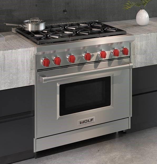 Wolf 36 Gas Range >> 36 Gas Range 6 Burners Range Cooker Wolf Oven 36 Inch