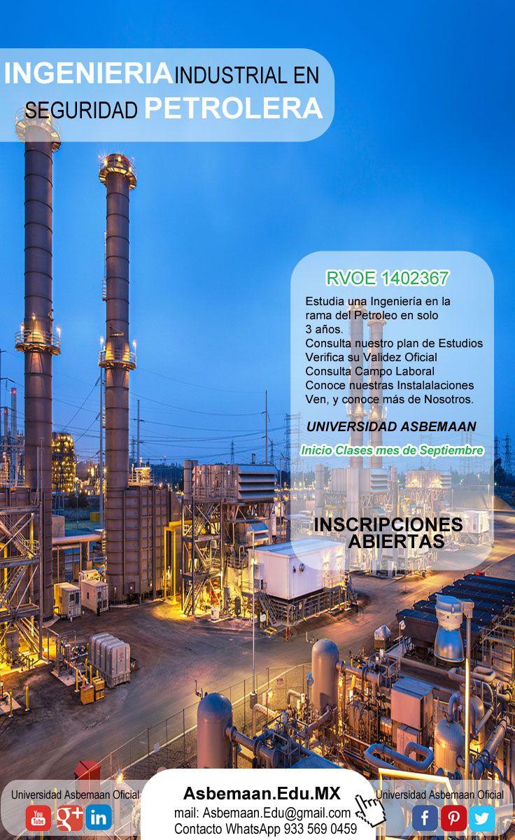 La Universidad Asbemaan tiene a bien abrir las puertas a aquellos que deseen estudiar una Ingeniería a mediano Plazo, con planes de Estudio y horarios Flexibles, pone a su disposición La Ingeniería Industrial En seguridad Petrolera.