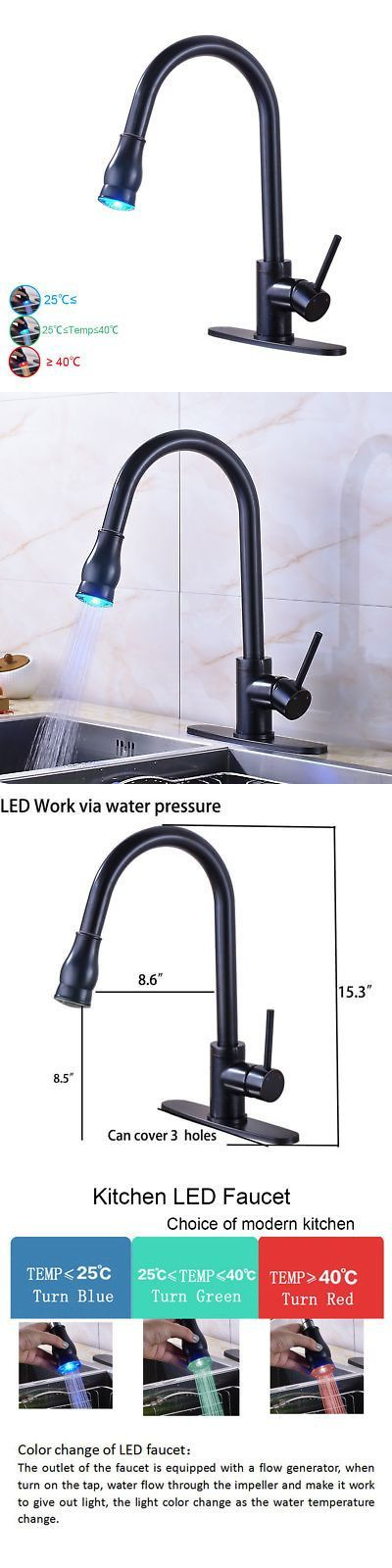 Faucets 42024 Oil Rubbed Bronze Kitchen Faucet Pull Out Sprayer Sink Single Hole Mixer Tap Buy It Now Only 54 On Ebay Home Garden Gadgetshaul Kuchenarmatur Kuchengerate Wasserhahn