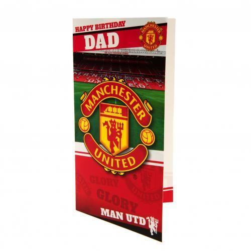 Birthday Card Approx 22 5cm X 12cm Message Inside Have A Glorious Dad Birthday Card Birthday Cards Manchester United