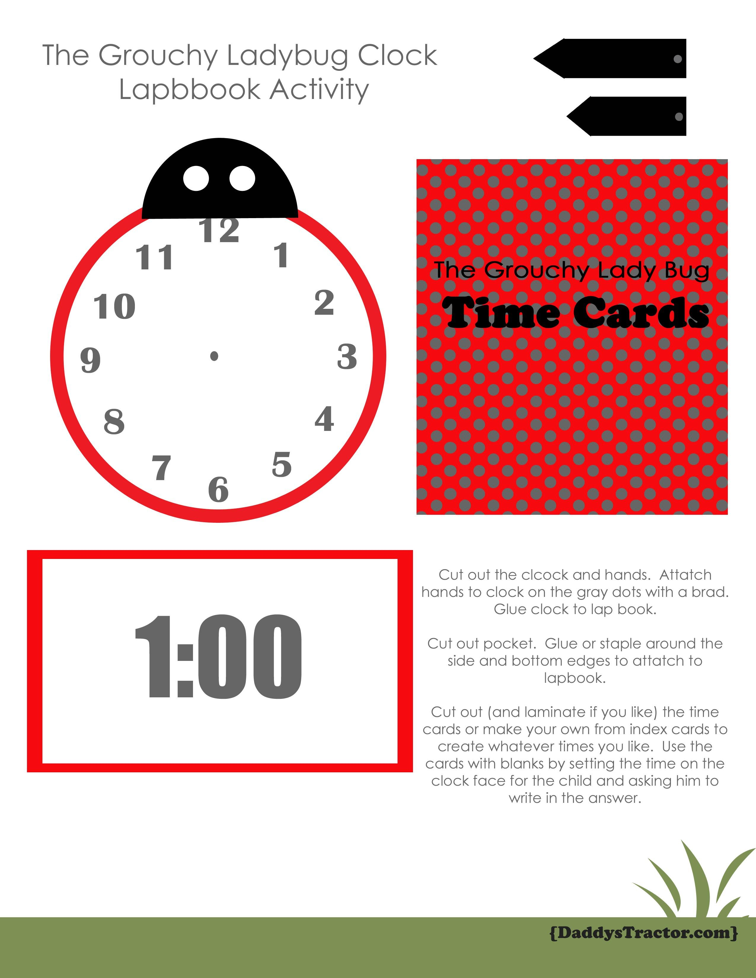 The Grouchy Ladybug Activity For Centers Or Lapbook