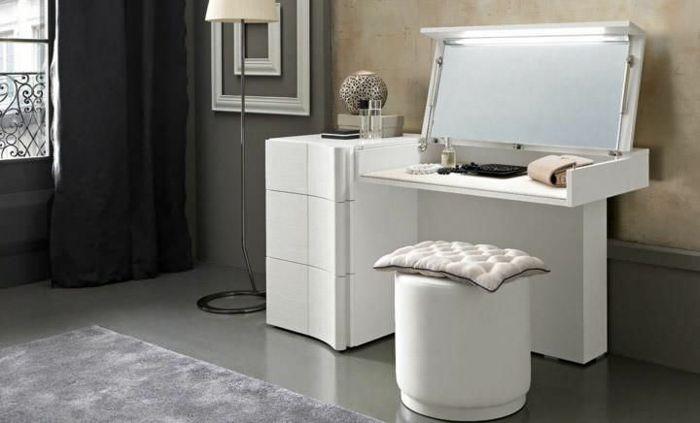 schminktisch mit spiegel modern und wei schubladen unbedingt kaufen pinterest. Black Bedroom Furniture Sets. Home Design Ideas