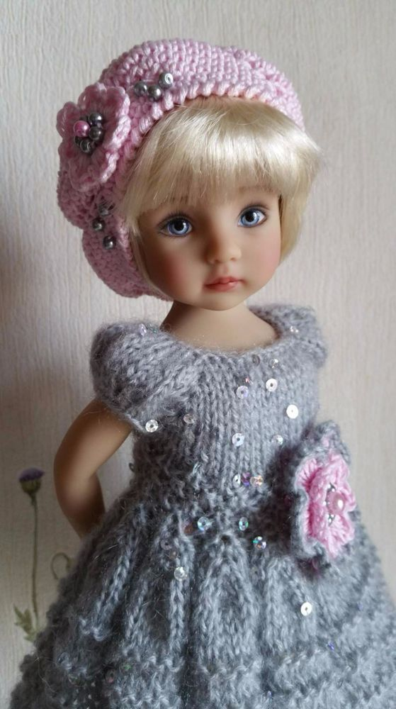 """Outfit """"Grey&Pink"""" for dolls 13"""" Dianna Effner Little Darling. 