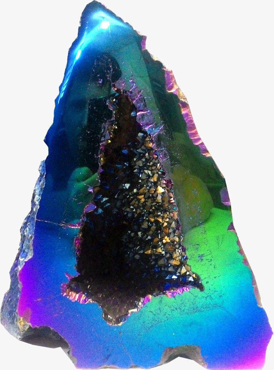 Geodo De Ametista Com Aproximadamente 10kg Nas Cores Azul E