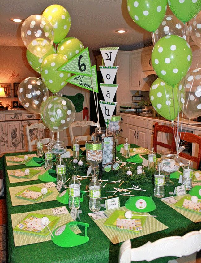 Good Golf Themed Party Decorating Ideas Part - 2: Golf Party: Noah Is 6