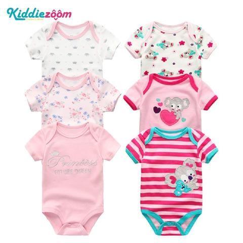 69d75c88e 6PCS Set Newborn Baby Rompers Boy Playsuit Clothes 100% Cotton ...