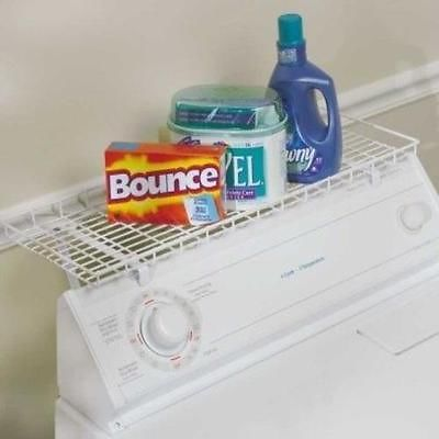 Household Over Washer Dryer Laundry Room Storage Shelf White Space Saver  Cleaner | EBay
