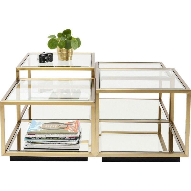 Table Basse Moderne Doree Luigi Kare Design Table Basse Moderne Table Basse Meuble Table Basse