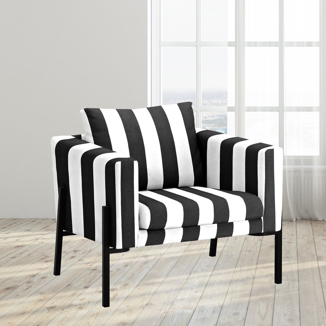 IKEA KOARP Armchair Cover, Black White Stripe in 2020