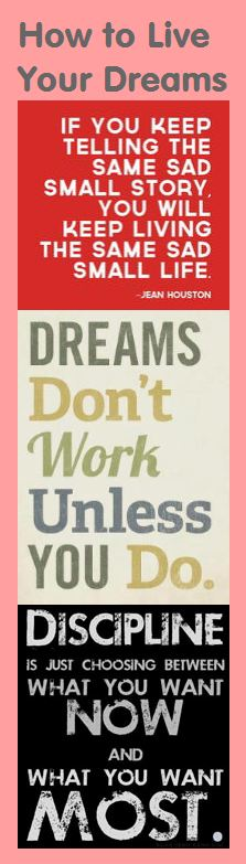 Motivational Bookmark: How to Live Your Dreams - If you want to be ...