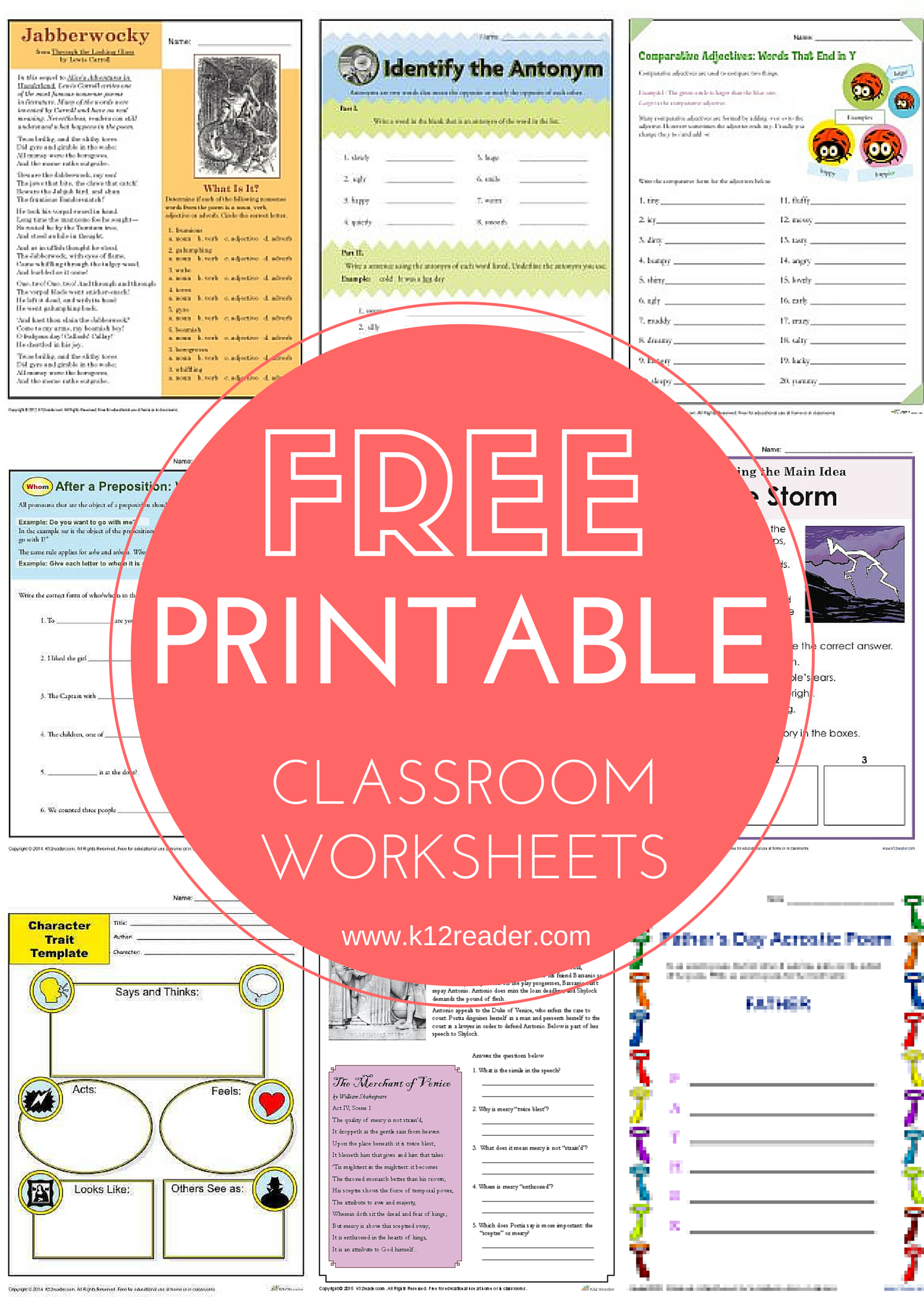 HUNDREDS Of Free Educational Printables Perfect For