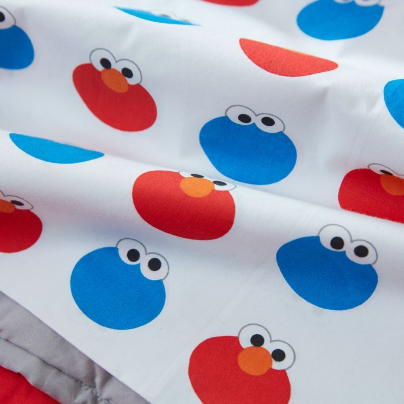 Sesame Street Elmo And Cookie Monster Organic Twin Sheet Set