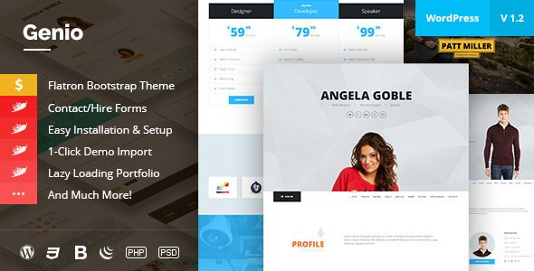 Genio - OnePage Resume, Personal Portfolio Theme Resume, Note - wordpress resume theme