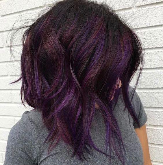 11 Best Dark Purple Hair Color Ideas Purple Brown Hair Dark