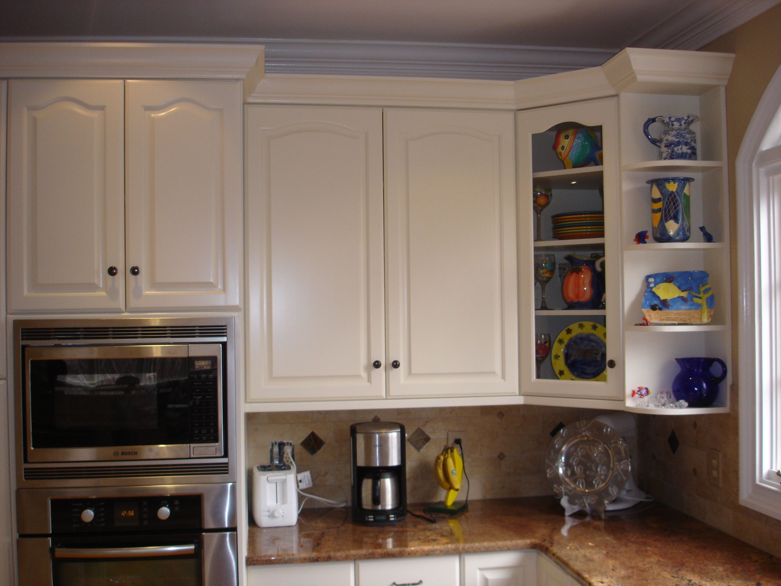 Pin By Sara Leavitt On Remodel Corner Kitchen Cabinet Glass Kitchen Cabinet Doors Glass Cabinet Doors