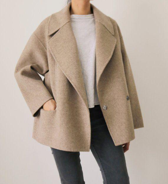 Avoine Coat – Handgenähter Mantel aus Kaschmirwolle in Kokon-Passform (weitere Farben erhältlich)   – // WOMAN STYLE