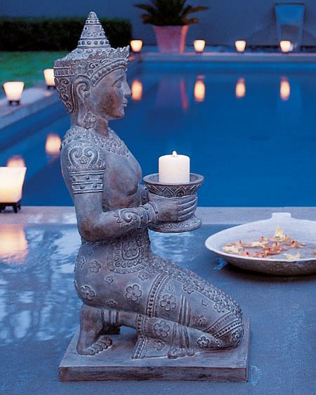 Add Serenity To Your Garden With Kneeling Thai Statue
